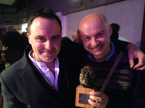 Composer Benjamin Till & Producer Julian Simmons at the 2014 Grierson Awards2014