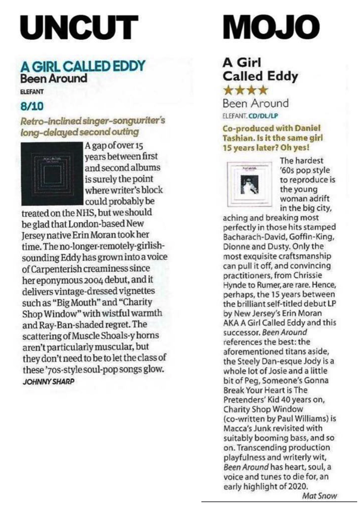 A Girl Called Eddy - Been Around - Mojo and Uncut